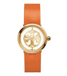 Tory Burch 橙色皮革/金色, 28 毫米