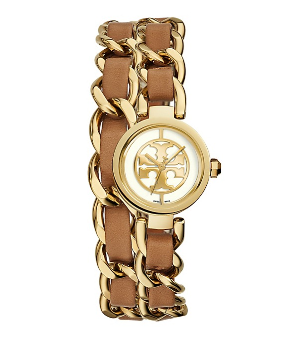 Love this Tory Burch chain double strap watch