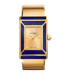Tory Burch腕表 限量版,金色/蓝青金石,38 x 25 毫米