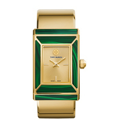 Tory Burch腕表 限量版,金色/绿青金石,38 x 25 毫米