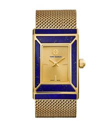 TTory Burch腕表 限量版,金色/蓝青金石/齿轮,38 x 25 毫米