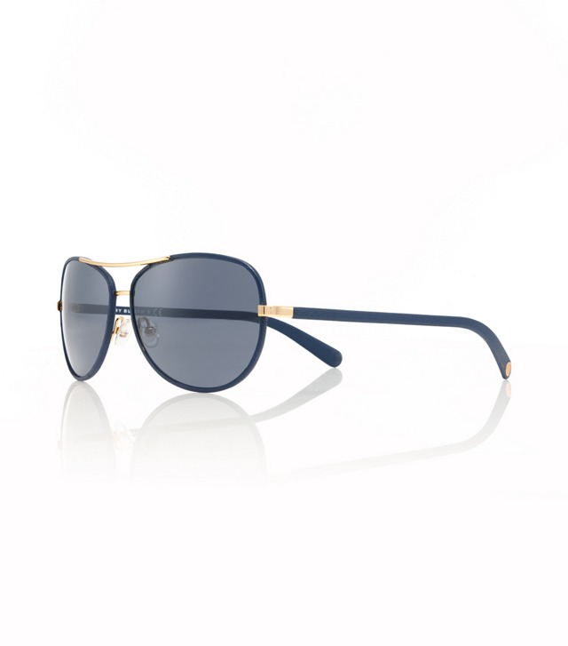Leather Covered Aviator Sunglasses