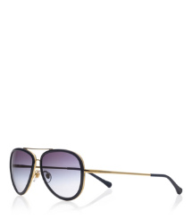 Blue Tory Burch Aviator Sunglasses