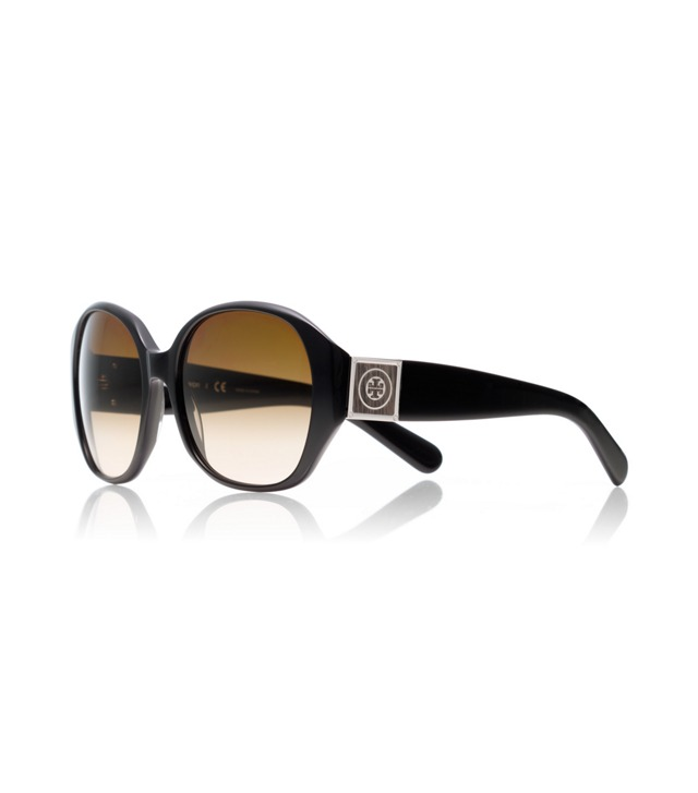Oversized Square Sunglasses with Leather