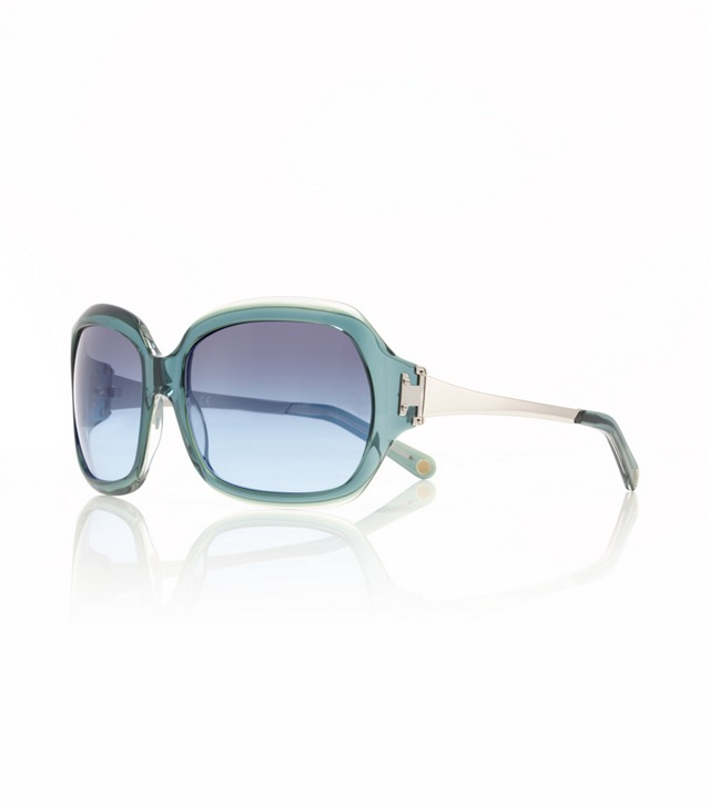 OVERSIZED SQUARE SUNGLASSES WITH METAL T-HINGE