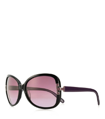 OVERSIZED SQUARE SUNGLASSES WITH ENAMEL T-HINGE
