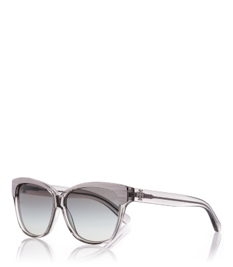 Transparent Grey Tory Burch Metallic Rim Sunglasses