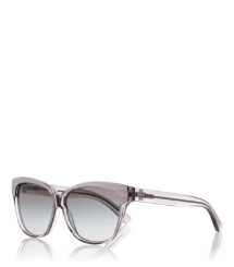 Transparent Grey Tory Burch Sonnenbrille Mit Goldfarbenem Rand