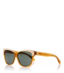 Dark Honey Tory Burch Sonnenbrille Mit Goldfarbenem Rand