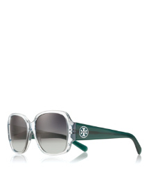 Blue Tory Burch Oversized Square Sunglasses