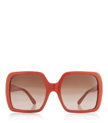 Orange Tory Burch Oversized Square Sunglasses