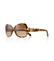 Tortoise Tory Burch Butterfly Sunglasses