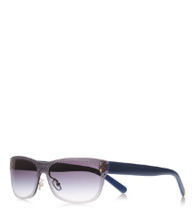 "Grey/blue Tory Burch Etched ""t"" Sunglasses"