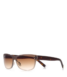 "Brown/havana Tory Burch Etched ""t"" Sunglasses"
