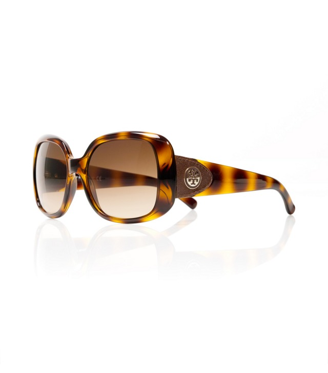 Leather-Tab Oversized Square Sunglasses