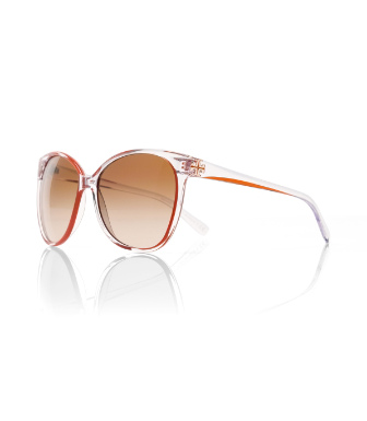 10541358 Orange Tory Burch Rounded Cat-eye Sunglasses