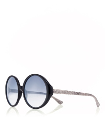 10861160 Black Tory Burch Oversized Print Sunglasses