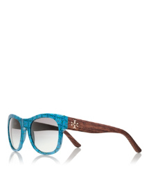 Blue Tory Burch Magpie Sunglasses