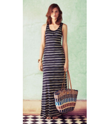 Tory Burch Long Lines: Silk Knit Stripes