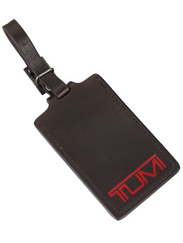 Luggage Tag - Large in Dark Brown Side View