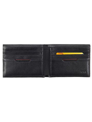 Double Billfold in Black Side View