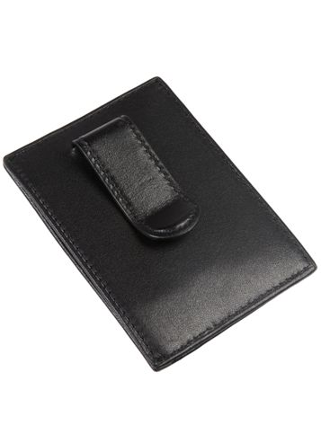 Money Clip Card Case in Black Side View