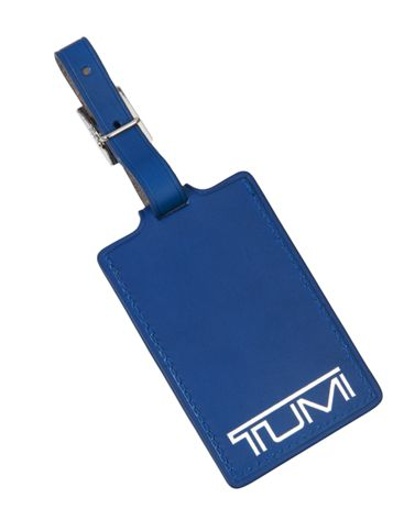 Mr. Luggage Tag in Blue Side View