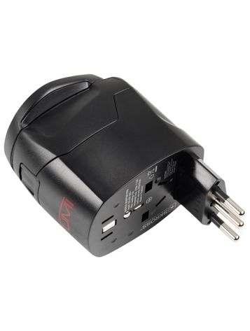 Electric Grounded Adaptor in Black Side View
