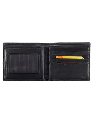 Global Center Flip ID Passcase in Black Side View