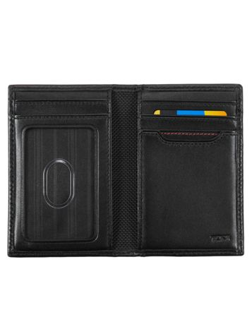 Multi Window Card Case in Black Side View