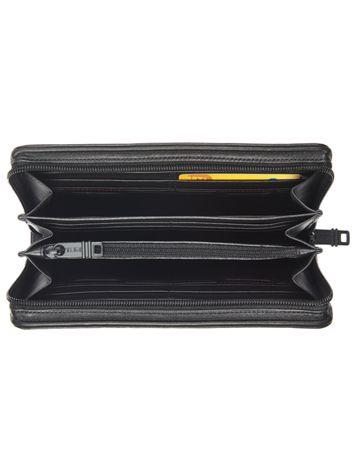 Zip-Around Travel Wallet in Black Side View