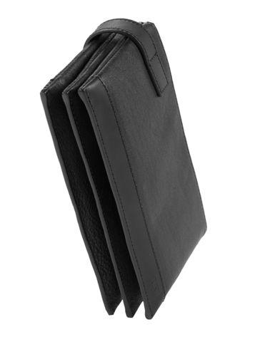 Triple Zip Clutch Side View