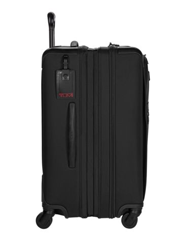Short Trip Expandable 4 Wheeled Packing Case in Black Side View