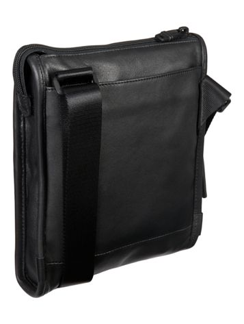 Leather Pocket Bag Small in Black Side View