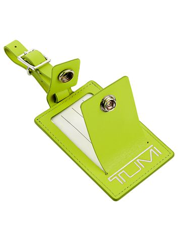 Luggage Tag in Bright Green Side View