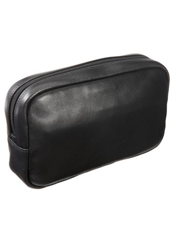 Slim Leather Travel Kit Side View