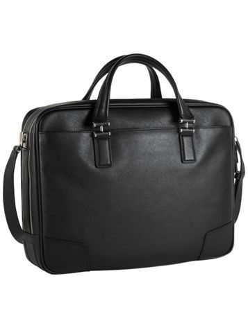 Ansonia Zip Top Leather Brief Side View