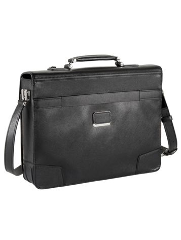 Dorilton Slim Flap Leather Brief Side View
