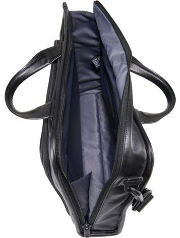 Slim Deluxe Leather Portfolio Side View