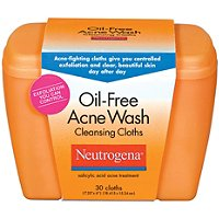 Oil Free Acne Wash Cleansing Cloths