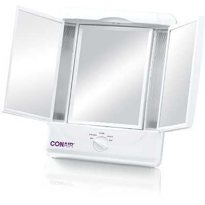 conair illumina lighted makeup mirror white cosmetics fragrance. Black Bedroom Furniture Sets. Home Design Ideas