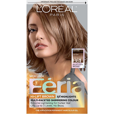 Oréal Feria Hi-Lift Browns Hair Color Hi-Lift Cool Brown B61 Ulta ...