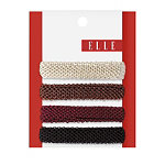 ElleHoneycomb Roll Up Ponytail Holders 4 Ct