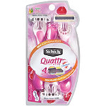 SchickQuattro Raspberry Rain Disposable Razors 3 Ct