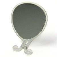 SatinaHigh Definition Round Clear Hand Mirror
