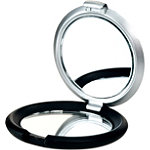 Satina2-Tone Circle Travel Size Compact Mirror
