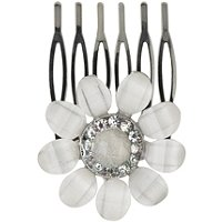 KarinaFrench Couture Snowflower Rhinestone Comb