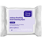 Clean & ClearMakeup Dissolving Facial Cleansing Wipes 25 Ct