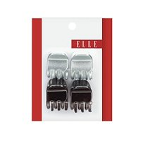 ElleMini Metallic Jaw Clips 4 Ct