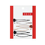 ElleAssorted Metal w/ Flower Bobby Pins 6 Ct